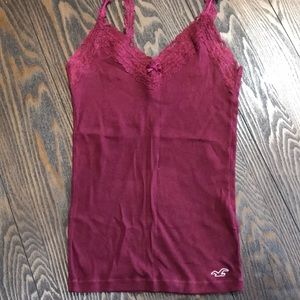 Hollister Lace Trimmed Tank Top.